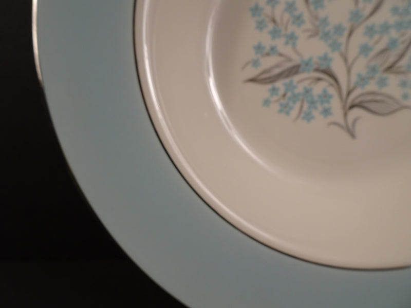 Sevron Blue Lace 8.25in Rimmed Soup Bowl