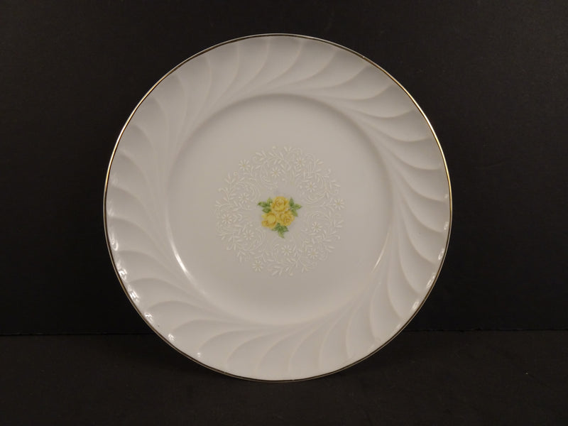 Bridal Bouquet by Bristol Fine China, Rimmed Dessert Plate