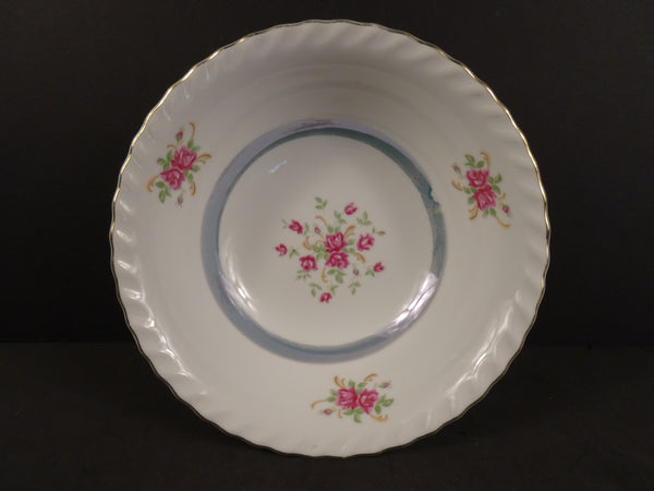 Pink Rose Bouquet Print with Gold Trim, 7.25in Coupe Cereal Bowl