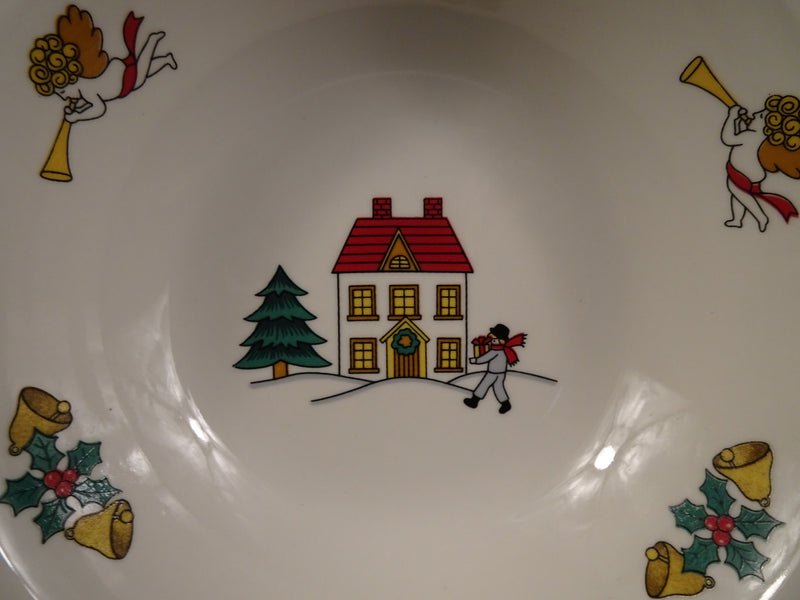 Jamestown China The Joy of Christmas 7in Rimmed Soup Bowl
