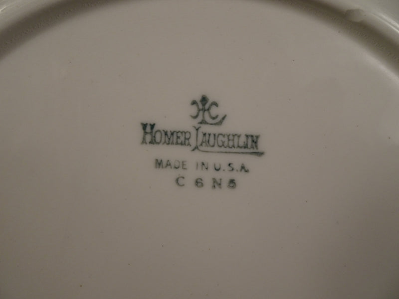 Homer Laughlin  8.90in Rimmed Luncheon Plate