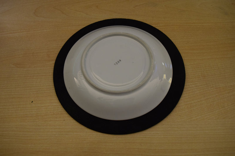 Elegant White Saucer With Thin Gold Trim 6.5in
