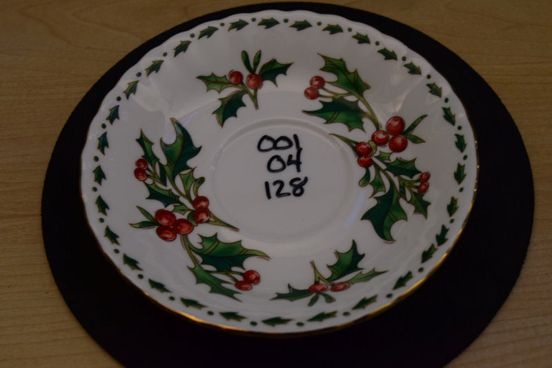 Waldman House Press A Cup of Christmas Tea 5.75in Coupe Saucer