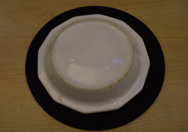 12 Sided Solid White Saucer - 6.25in