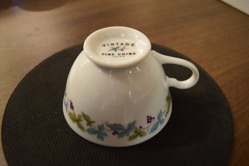 Footed Tea Cup By Vintage Fine China