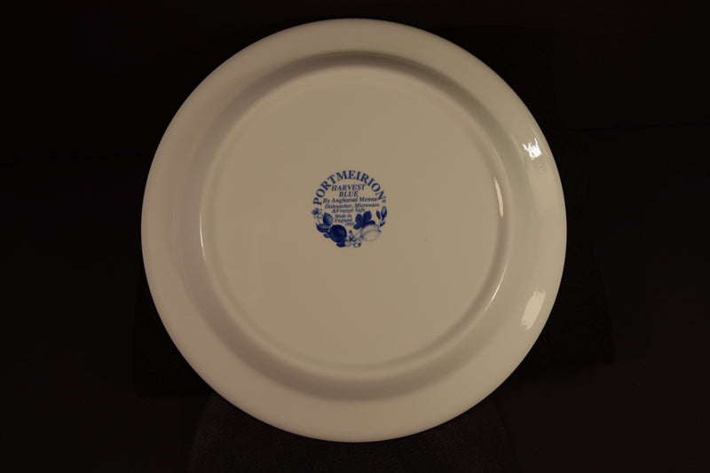 Port Meirion Harvest Blue 10.6in Rimmed Dinner Plate