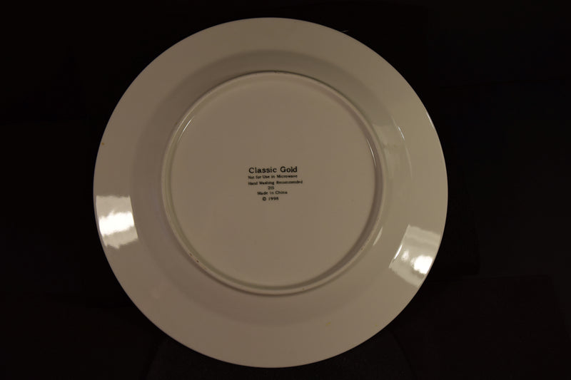 Classic Gold  10.6in Rimmed Dinner Plate