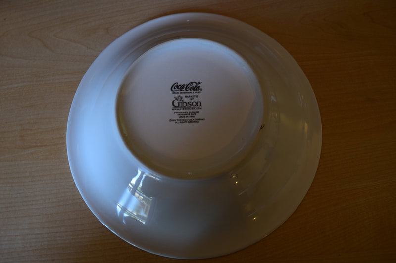 Gibson Housewares Coca Cola 8.75in Rimmed Soup Bowl