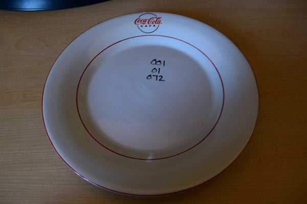Gibson Housewares Coca Cola 10.5in Rimmed Dinner Plate