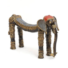 Load image into Gallery viewer, Dhokra Art Elephant made in Bell Metal from Bastar, Chhattisgarh