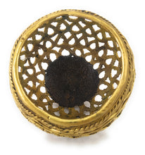 Load image into Gallery viewer, Round Designer Brass Metal Pen Holder made in Dhokra Art, Bastar Art, top view
