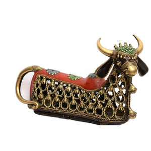 Dhokra Art Nandi statue made in Bell Metal from Bastar, Chhattisgarh