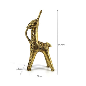 Small Horse Bastar Arts Dhokra Metal Craft Brass Metal