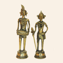 Load image into Gallery viewer, Decorative Statue of Indian Tribal Couple with Musical Instrument
