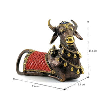 Load image into Gallery viewer, Colorful Nandi Statue