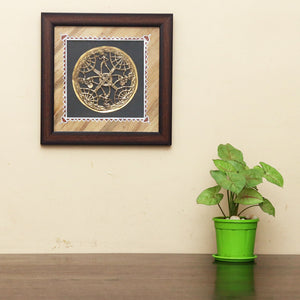Brass Metal Indian wall frame, Handcrafted in Bastar Art, Wall Decor