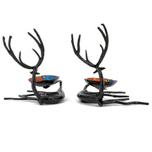 Load image into Gallery viewer, Reindeer Shaped Bastar Art Wrought Iron candle holders.