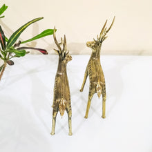 Load image into Gallery viewer, dhokra art brass deer statue
