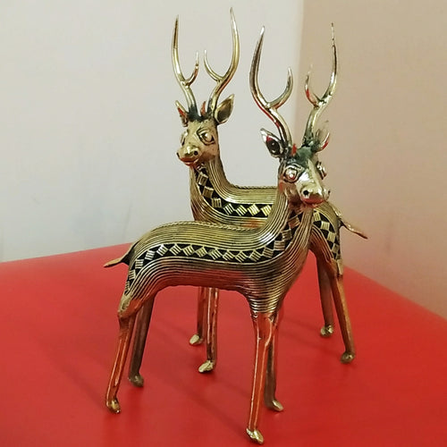 Deer Duo, Bastar Art | Dhokra Art
