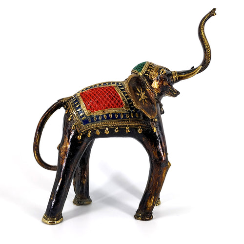 dhokra art brass elephant