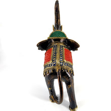 Load image into Gallery viewer, dhokra art brass elephant statue