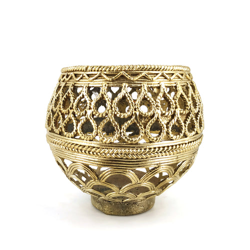 bastar art brass pen holder