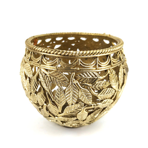 dhokra art brass pen holder
