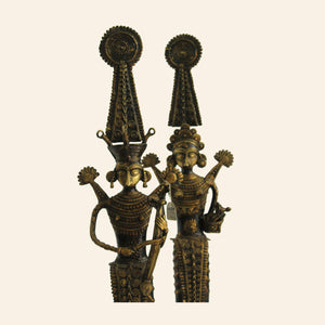 Jhitku Mitki, Bronze Metal Statuettes Depicting Dual Figurines