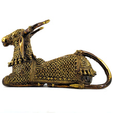 Load image into Gallery viewer, Metal Nandi Statue with rings