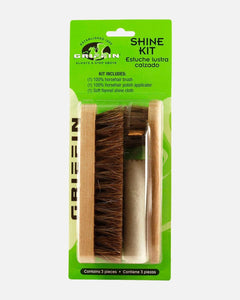 griffin shoe care shoe shine kit horsehair brush cloth