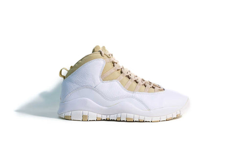 9 US - Nike Jordan X  White/Linen-University Blue Retro 2005