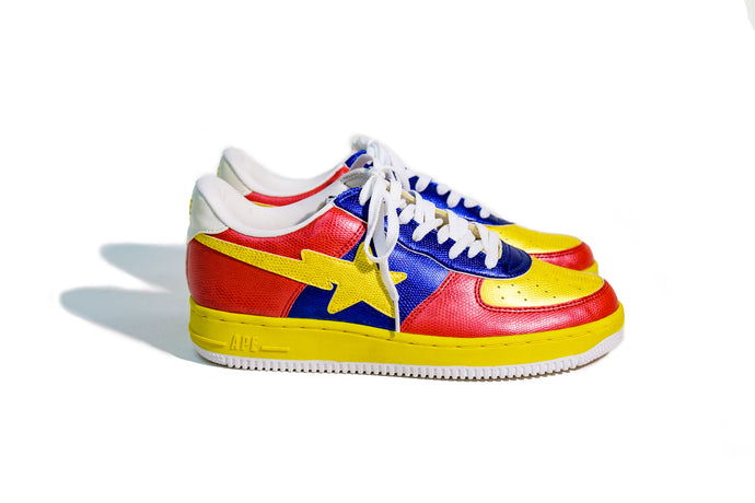 11 US - DS Bathing Ape Bapesta Foot Soldier Yellow/Red