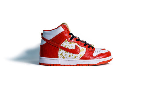 9.5 US - DS Nike Dunk High Supreme Red White 2003