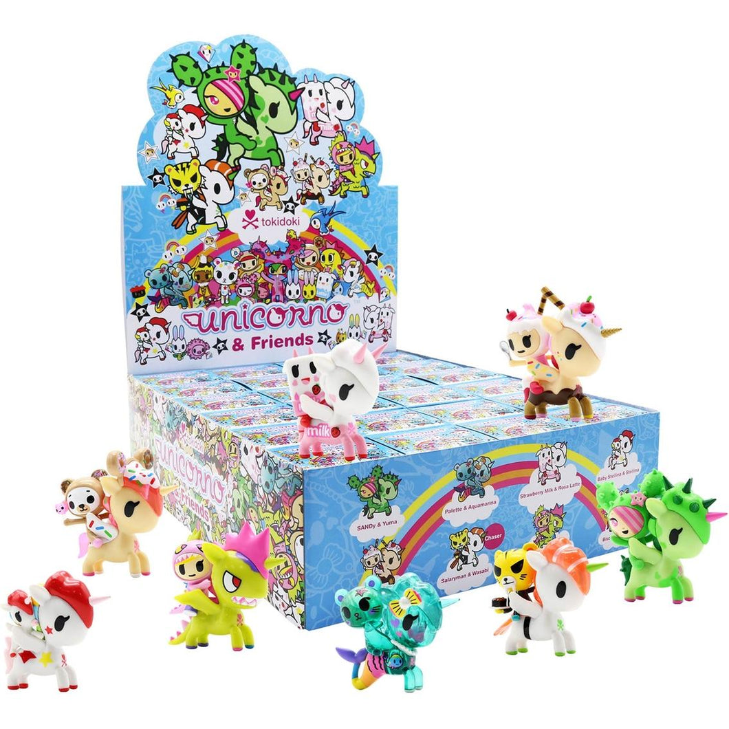 Tokidoki Unicorno and Friends Series Mini Vinyl Figure Case