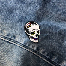 Load image into Gallery viewer, Creamlab Tizieu 8 Ball Skull Rainbow Enamel Pin