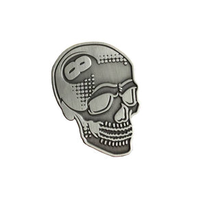 Creamlab Tizieu 8 Ball Skull Antique Silver Enamel Pin