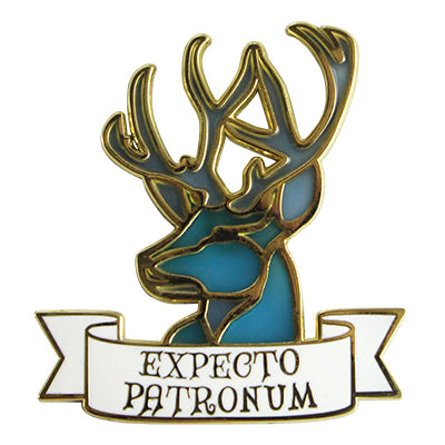 BxE Button Harry Potter Expecto Patronum Enamel Pin