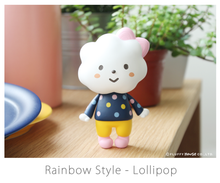 Load image into Gallery viewer, Fluffy House Miss Rainbow with Lollipop Style Vinyl Figure