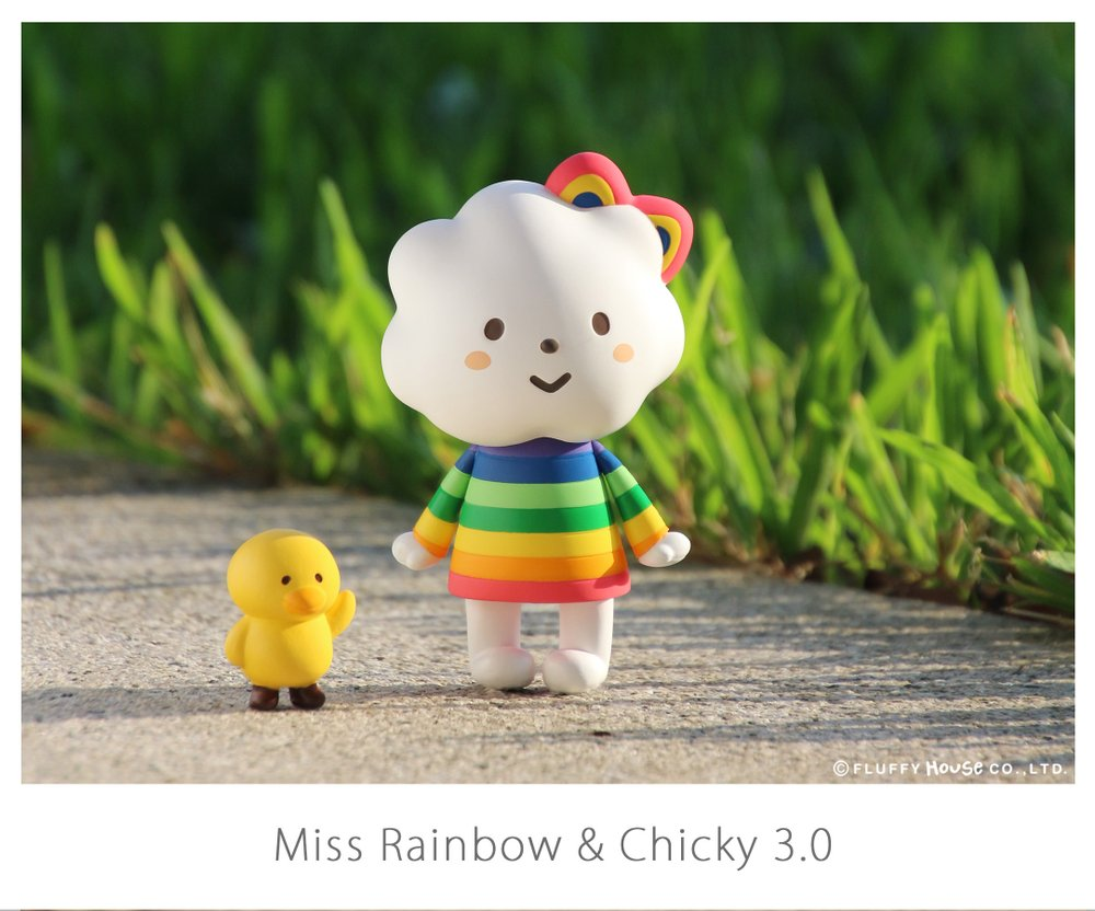 Fluffy House Miss Rainbow & Chicky 3.0 Vinyl Figure