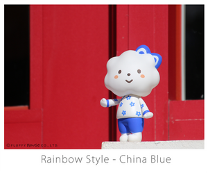 Fluffy House Miss Rainbow with China Blue Style Vinyl Figure