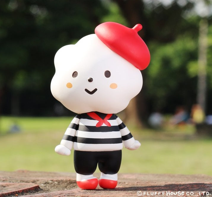 Fluffy House Miss Rainbow with Breton Stripe Style Vinyl Figure
