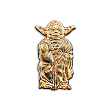 Load image into Gallery viewer, Nerdpins Gold Master (Yoda) Enamel Pin