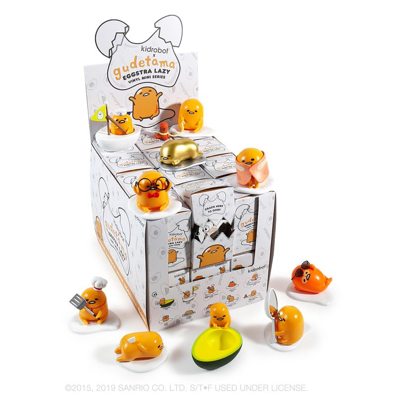 Kidrobot Gudetama Eggstra Lazy Vinyl Mini Figure Series Case