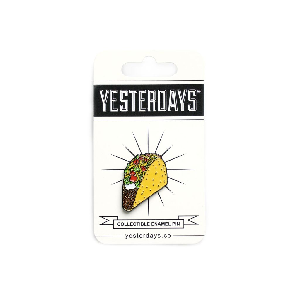 Yesterdays Crunchy Taco Enamel Pin