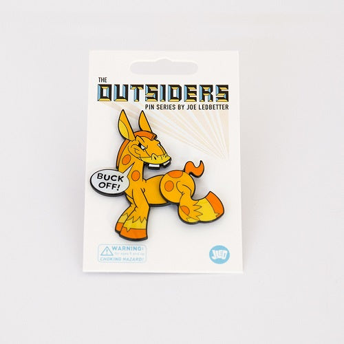 Joe Ledbetter The Outsiders Buck Off Donkey Enamel Pin