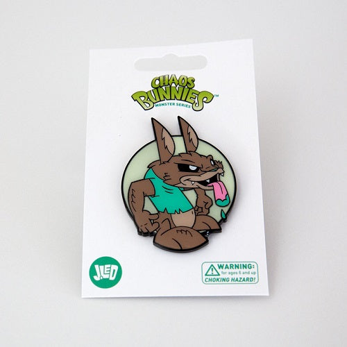 Joe Ledbetter Chaos Bunny Collection Werebunny Enamel Pin