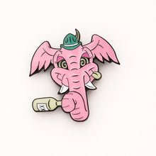 Load image into Gallery viewer, Joe Ledbetter The Outsiders Pink Elephant Enamel Pin