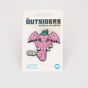 Joe Ledbetter The Outsiders Pink Elephant Enamel Pin