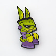 Load image into Gallery viewer, Joe Ledbetter Chaos Bunny Collection Frankenbunny Enamel Pin