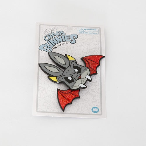 Joe Ledbetter Chaos Bunny Collection Demon Bunny Enamel Pin